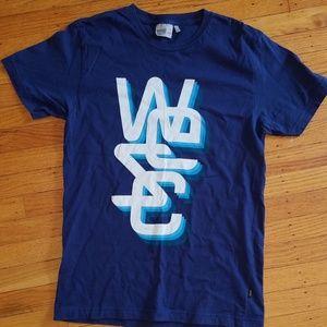 WESC Superlative Conspiracy Graphic Blue T-Shirt